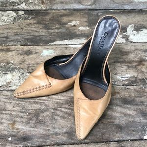 👡 Beige stitched Cole Haan Country mules Sz 9B